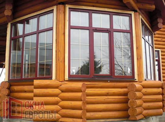 Окна из массива дерева от производителя