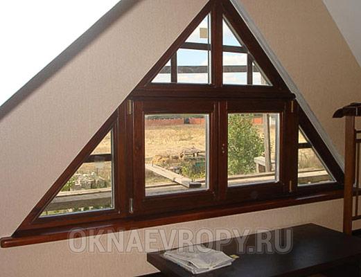 Деревянные нестандартные окна