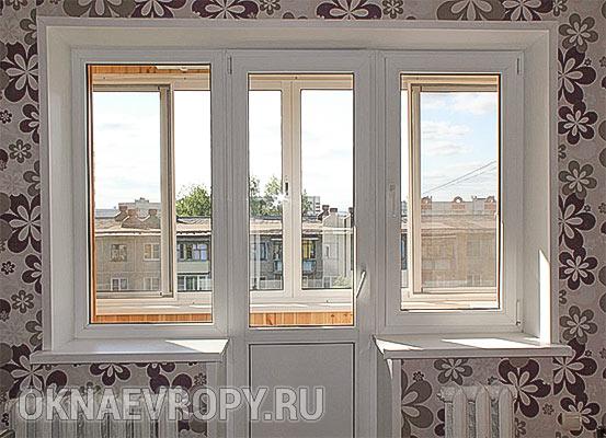 Пластиковые окна в 3-х комнатную квартиру
