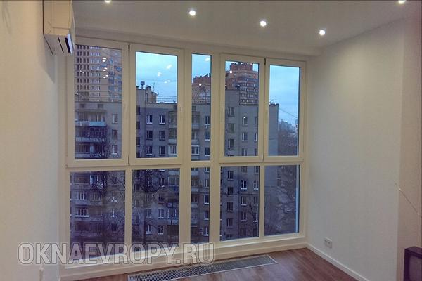 Панорамные пластиковые окна для квартиры