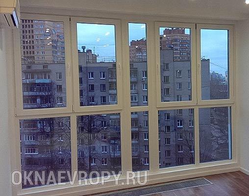 Остекление квартиры окнами в пол