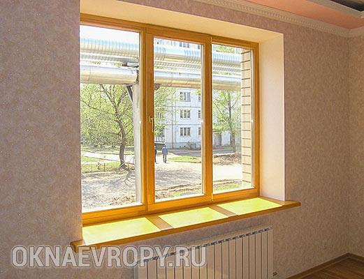 Коричневые окна для квартиры