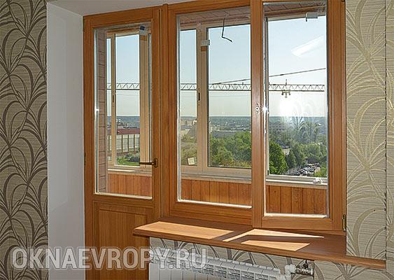 Окно с дверью для квартиры