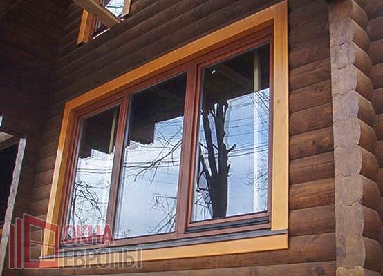 Окна с энергосберегающими стеклами на фото