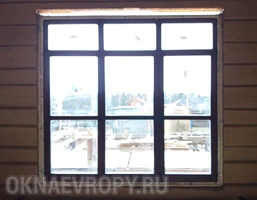 Мультифункциональное стекло в деревянном доме