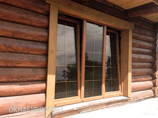 Фото коричневых окон в домах