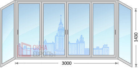 Цены на окна на балкон в Москве