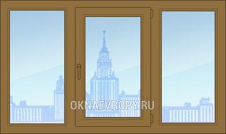 Купить коричневые окна