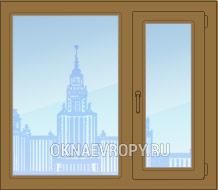 Купить коричневые пластиковые окна