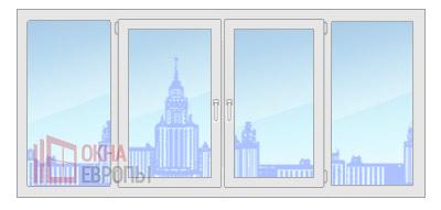 Цена на окна из профиля Provedal p400
